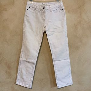 Boden Midrise White Jeans